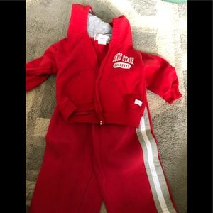 Boys Nike 12 month Ohio State hoodie and pant set